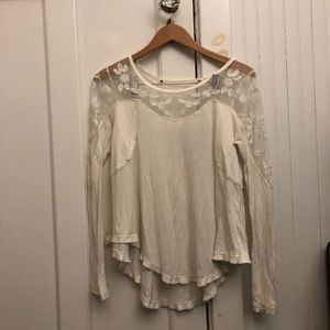 White Lacey shirt from FP